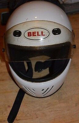 VINTAGE BELL M90 RS III MOTORCYCLE HELMET SNELL APPROVED DOT  L W/ WORKING VISOR