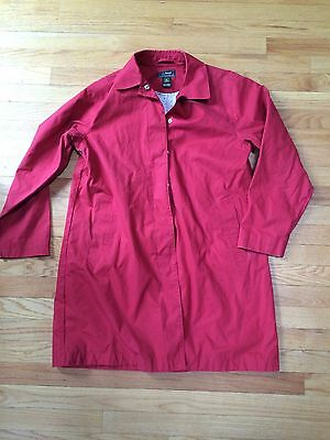 L.L. Bean Women's 100% Cotton Spring Trench Coat Brick Red Medium Anchor Lining!