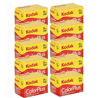 10 Rolls Kodak ColorPlus Color Plus 200 ASA 135-24 Exp 35mm Film, US SELLER