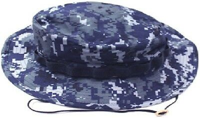 Mil Issue NWU USN Navy Blue Digital Camouflage Boonie Hat By Govt Contractor 960