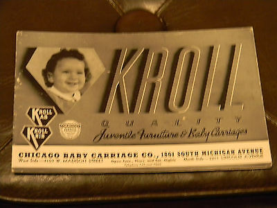 RARE VINTAGE KROLL BABY FURNITURE BROCHURE 1940'S EX/COND 30 PAGES