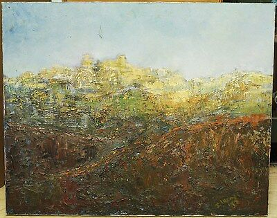 Original Oil On Canvas - Abstract Signed By Artist J. Lucas - 1973