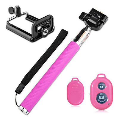 Extendable Handheld Stick Selfie Monopod For Iphone Samsung HTC Phone Camera-P14