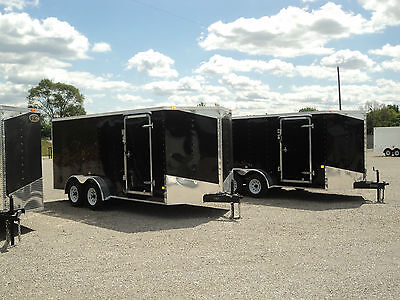 NEW 7 x 16  ENCLOSED CARGO TRAILER W/ RAMP *ON SALE NOW @ DR TRAILER * BEST DEAL