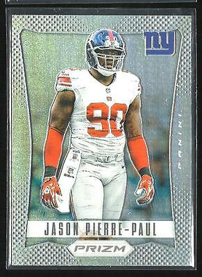 2012 PRIZM FOOTBALL JASON PIERRE PAUL SP REFRACTOR CARD #127 NEW YORK GIANTS NY