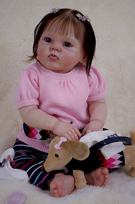 """Awesome-Reborn KIT- 9 mo old 24"""" CUDDLES, by Donna Rubert -FREE Shipping in USA."""