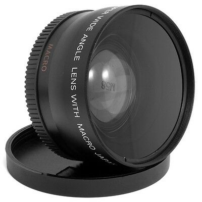 58MM Wide Angle & Macro Macro Lens for Canon Rebel EOS 700D 650D 600D 550D