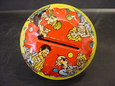 vTg US Metal Tin Litho Toy Party New Years Noisemaker Rattle Birthday Jazz Dance