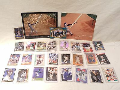 KEN GRIFFEY, JR. BASEBALL CARDS, LOT OF 26 DIFFERENT CARDS,  2 PICTURES