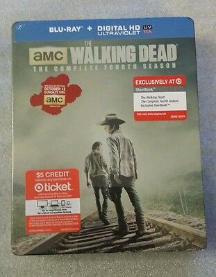 The Walking Dead STEELBOOK The Complete Fourth Season 4 Blu Ray Target Exclusiv
