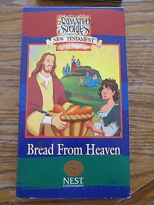 """VHS Animated Stories From the New Testament  """"Bread From Heaven"""" Buy Now $2.25"""