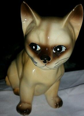 INARCO CAT KITTEN PLANTER FLOWER VASE VINTAGE ANTIQUE CERAMIC ANIMAL FIGURINE GC