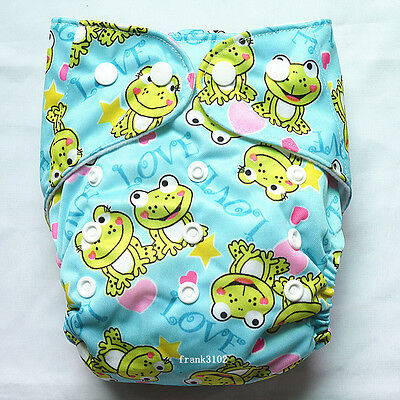 1 Frog Baby Infant Cloth Diaper Cover Reusable Washable Adjustable Waterproof