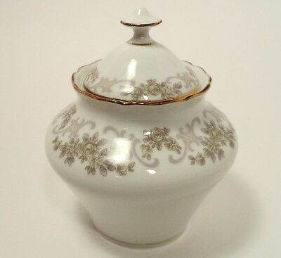 HUTSCHENREUTHER WALLACE CHINA CORSAGE - MINT - LIDDED SUGAR BOWL WITH LID