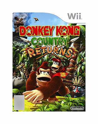 Nintendo Wii - DONKEY KONG COUNTRY RETURNS. PG. Great game in as new condition!