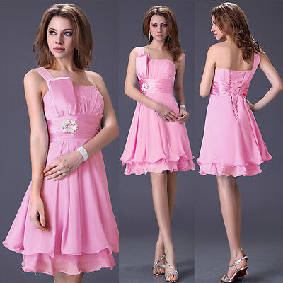 DISCOUNT Short Formal Wedding Party Gowns Cocktail Prom Evening Bridesmaid Dress