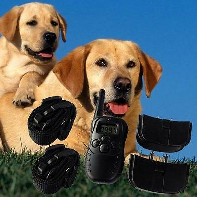 Remote Electric Pet Dog Training System Shock Vibra Discipline 2 Collar with LCD