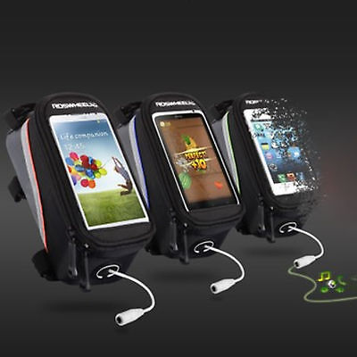 Sport Cycling Bike Bicycle Front Bag Mobile Phone Holder Case iphone samsung