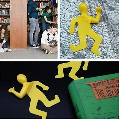 New Funny Bookmark ' Dead Mark ' Squashed Flat Book Mark Silicon Rubber Yellow T