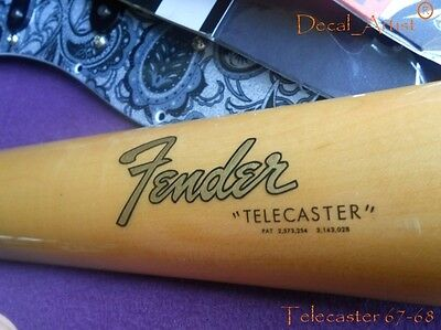 Replacement 1965-1967 Telecaster Decal Headstock Logo
