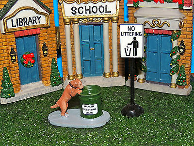 Dog Searching For Food Figurine Set Of Two 1:24 (G) Scale Diorama