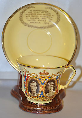 """England""""s Royal 1939 Commemorative Cup and Saucer with Stand    C(J)"""