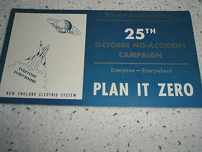 1951 vintage INK BLOTTER. 25th Ann. Advertising ~ New England Electric Systems
