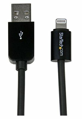StarTech USBLT2MBB 2m 8-Pin Lightning Connector to USB Cable F/ iPhone Black