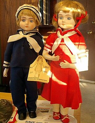 Seymour Mann's musical doll reproductions. set of 2