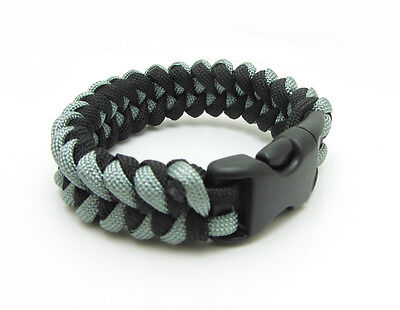 1X Paracord Bracelet Parachute Rope Wristband Survival Hiking Climbing GH024