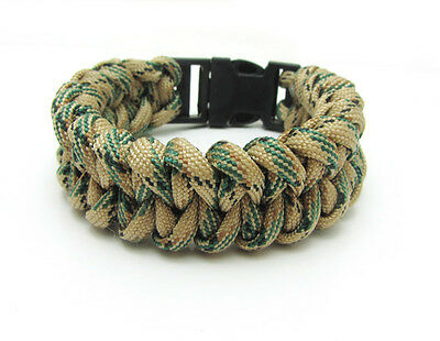 1X Paracord Bracelet Parachute Rope Wristband Survival Hiking Climbing GH022