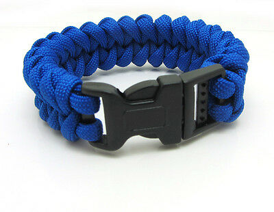 1X Paracord Bracelet Parachute Rope Wristband Survival Hiking Climbing GH018
