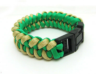 1X Paracord Bracelet Parachute Rope Wristband Survival Hiking Climbing GH015