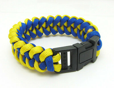 1X Paracord Bracelet Parachute Rope Wristband Survival Hiking Climbing GH014