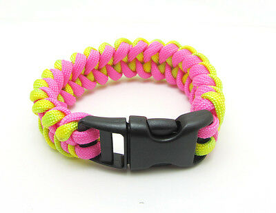 1X Paracord Bracelet Parachute Rope Wristband Survival Hiking Climbing GH013