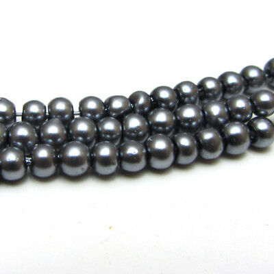 New 3MM 150pcs Charm Round  Beads Glass Spacer Pearls Gray  Color