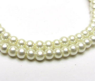 New 3MM 150pcs Charm Round  Beads Glass Spacer Pearls Milk White Color