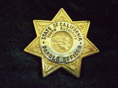 CALIF.  YOUTH  AUTHORITY PAROLE  OFFICER   MINI-BADGE LAPEL PIN