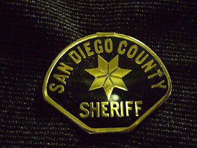 SAN DIEGO COUNTY SHERIFF (PATCH)  MINI-BADGE / LAPEL PIN