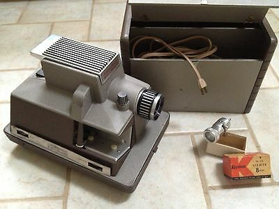 BELL & HOWELL TDC Robomatic Vintage Film Projector All ORIGINAL! Complete W/Case
