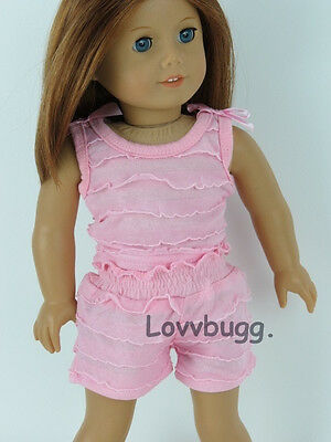 """Pink Ruffles Shorts Set Clothes for 18"""" American  Girl Doll Widest Selection!"""