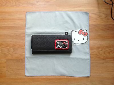 LOUNGEFLY Hello Kitty Black Head Trifold Wallet - New