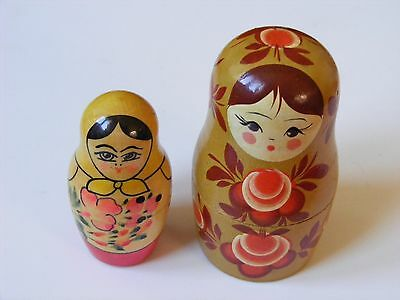 Lot Of 2 Vintage Old Collection Russian Ussr Matryoshka 2pc