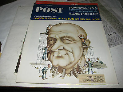 SATURDAY EVENING POST,SEPTEMBER 11,1965 ISSUE. LYNDON JOHNSON BUST COVER