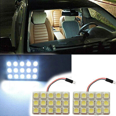 2x Xenon White 15-SMD LED Panel Lamp Interior Map Dome Cargo Area Light 5015 Bx1