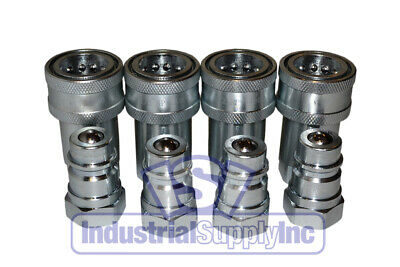 "(4 sets) 1/2""  Agricultural Hydraulic Quick Couplers"