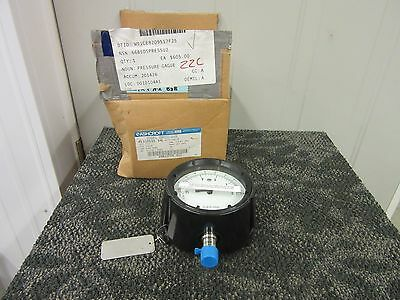 "ASHCROFT BELLOWS GAUGE 0-15 IN H2O VACUUM 316SS 4"" WHITE DIAL 0-28 MM Hg NEW"