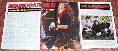 Soundgarden Clipping Pinup Poster 5 Page Article Complete Vintage Chris Cornell
