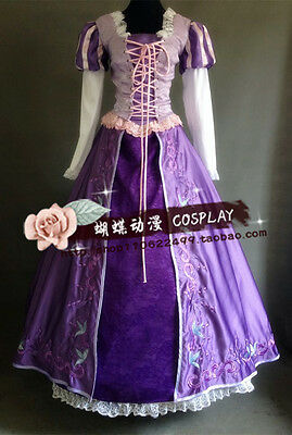 Tangled Rapunzel Cosplay Costume deluxe dress