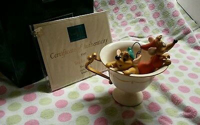 Disney WDCC 'Tea for Two' Gus & Jaq 6752 from Cinderella 11K 414100 w/Box & COA